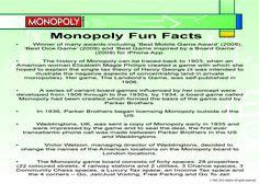 Monopoly Fun Facts