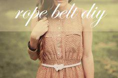 Sincerely, Kinsey: Rope Belt DIY
