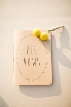custom book for vows, photo by Jenna Bechtholt http://ruffledblog.com/los-angeles-rooftop-wedding #weddingideas #papergoods