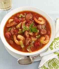 Portuguese Shrimp & Sausage Soup