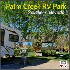 The property is much more than just a typical RV Park. It has more the feel of a county park/farm/ranch. Running alongside the property is a constantly flowing creek fed by a natural warm spring with a water temperature of somewhere around 80 degrees. http://www.loveyourrv.com/returned-palm-creek-resort-rv-park-nevada/ #Nevada #Camping