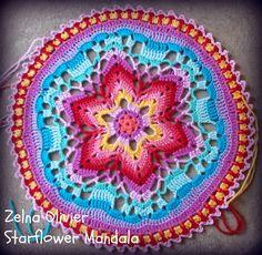 starflow mandala, mandala pattern, crochet mandala