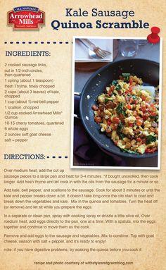 Kale, Sausage & Quinoa Scramble Recipe