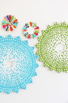 ~tutorial ~ Ombre dotted Dresden plates by Vanessa Christenson