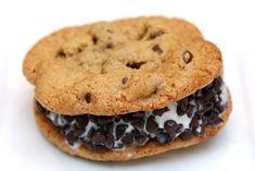 Homemade Chocolate Chipper  Ice Cream Sandwiches.
