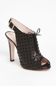 RED Valentino Peep Toe Sandal available at Nordstrom (these would make any pair of jeans look good)