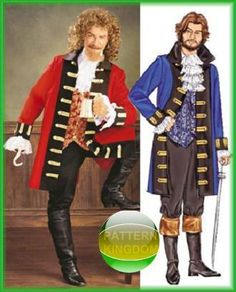 Captain Hook Caribbean Pirate Costume Patterns XS M B3894 | eBay