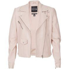 Veda Classic Leather Moto Jacket found on Polyvore
