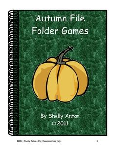Autumn File Folder Games for Math and Literacy