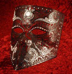 Handmade metal mask.