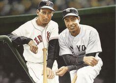 Ted Williams & Joe DiMaggio (painting by Arthur K Miller)