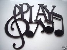 music notes wall decor - absolutely LOVE <3 DEFFS gonna be in my home for the future .