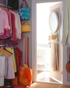 Use Pegboard in the Closet - Martha Stewart Organizing