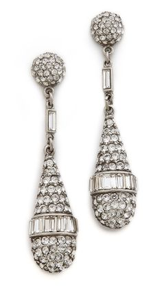 Ben-Amun Crystal Teardrop Earrings | selected by jamesdrygoods.com for the made in america: contemporary project | #madeinusa |