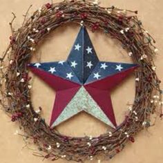 Americana Grapevine Wreath~ Love it