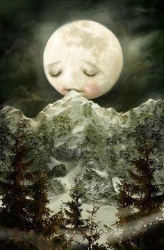 The Peckish Moon - meluseena - etsy <3