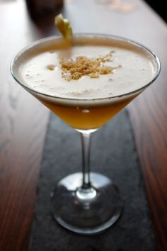 Nottingham's Bramley Apple Martini ready to drink! Want to try it at a bar or make it at home? Find out how: http://www.pinterest.com/visitengland/great-english-cocktail-recipes/ #morecity