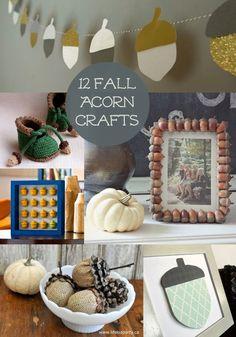 12 Fantastic Fall Acorn Crafts