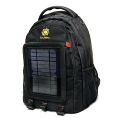 Solarbak is a cool, stylish and durable backpack with a detachable solar panel on it that will charge your devices from the sun or indoor light. || SOLARBAK Solar Backpack Mobile Charger