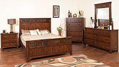 bedroom suites, collect bedroom, bed includ, furnitur collect, miguelbedroom suit, santa fe, drawer, color slate, san miguelbedroom