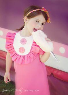 Retro Style Layla dress with bib and by faithworks4u on Etsy