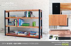 HomeMade Modern DIY EP36 Ironbound Bookcase Postcard