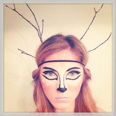 DIY Deer Makeup for Halloween