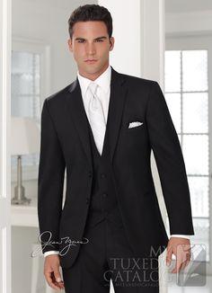 Black 'Ceremonia' Suit. Grooms and groomsmen suit!