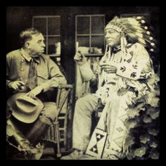 """Blackfeet Indian chief Bull Calf Star - photo from a 1926 copy of The Seattle Daily Times"""""""