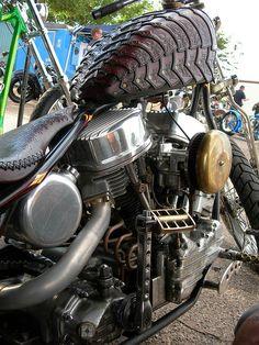 """Paul Cox/Indian Larry's """"Berzerker""""bike."""