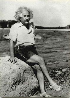 Abert Eistein on the beach, 1934
