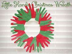 Little Hands Christmas Wreath, Handprint Christmas Wreath
