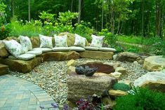 Color Amidst a Woodland - traditional - patio - cleveland - Healy Design Inc.