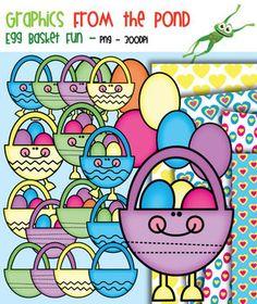 Egg Basket Fun - Clipart for Teachers and Teaching