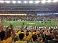 This is the view we give our students here at #Baylor. #50yardline #SicEm