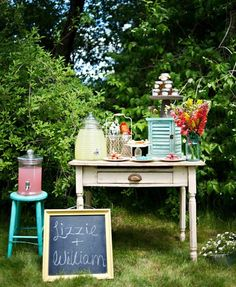 Outdoor party/wedding shower ideas