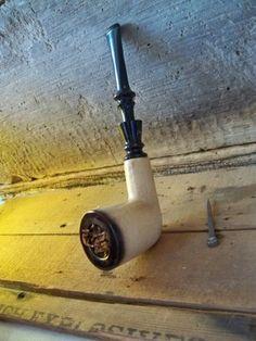 tobacco pipe, block meerschaum, smoke pipe, meerschaum pipe, vintag estat