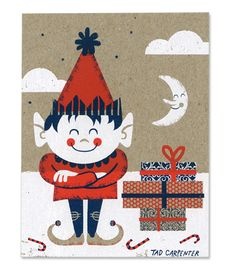 2010 Holiday card by Tad Carpenter