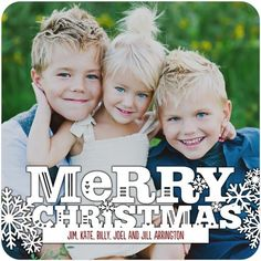 Rustically Festive - Flat Holiday Photo Cards - Fine Moments - White : Front
