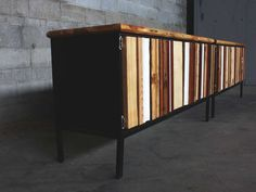 @Whitney Clark Holman's remarkable transformation of a 30 year old Steelcase credenza, via scrap wood