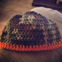 Camouflage Crochet Blanket