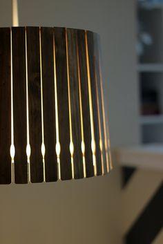 DIY: paint stick pendant light
