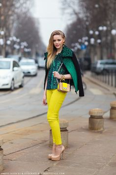 Green & yellow fashion
