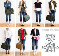30 Outfits in a Bag: Boyfriend Jeans Found on fastfoodandfastfashion.com