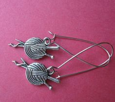 Have a Ball (yarn ball that is!) earrings on French wires. $7.00.  Cute!