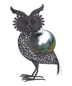 Loving this Owl Gazing Ball Figurine on #zulily! #zulilyfinds