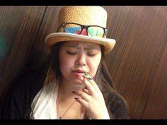 Sweet Japanese girl smoking 18