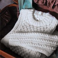Creamy Aran pullover free knitting pattern - Free Sweater Knitting pattern