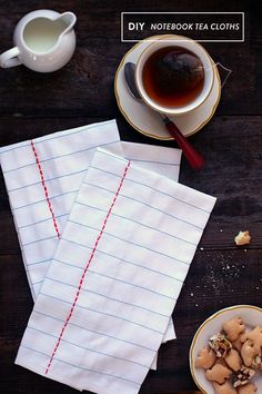DIY notebook tea cloths