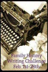 Family History Writing Challenge